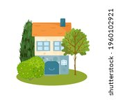 cute house illustration with... | Shutterstock .eps vector #1960102921