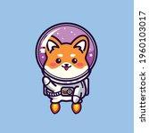 cute dog shiba inu become... | Shutterstock .eps vector #1960103017