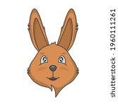 drawing of a cute face of a...   Shutterstock .eps vector #1960111261