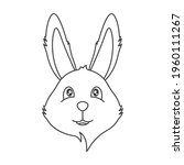icon of a cute smiling bunny...   Shutterstock .eps vector #1960111267