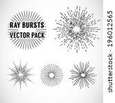 line ray burst. vintage style   ... | Shutterstock .eps vector #196012565