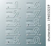 modern infographics process... | Shutterstock .eps vector #196013219