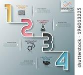 modern infographics process... | Shutterstock .eps vector #196013225