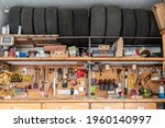 Home Suburban Garage Interior...