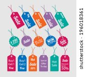 set of tags for sale. | Shutterstock .eps vector #196018361