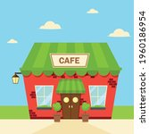 cute and cozy roadside cafe... | Shutterstock .eps vector #1960186954