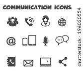 communication icons  mono... | Shutterstock .eps vector #196020554