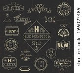 vintage hipster hand drawn... | Shutterstock .eps vector #196022489