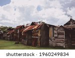 View Of Old Shack Or Slum House ...