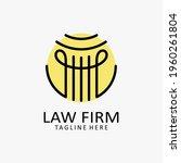 law firm pillar logo design    Shutterstock .eps vector #1960261804