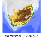 south africa. physical vector...