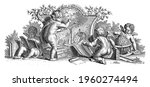 four putti together. two of... | Shutterstock . vector #1960274494