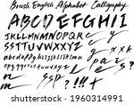 english alphabet calligraphy... | Shutterstock .eps vector #1960314991
