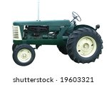 1956 Oliver Tractor Isolated...