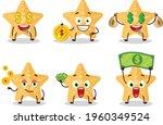 yellow starfish cartoon... | Shutterstock .eps vector #1960349524