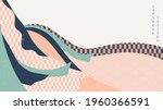 japanese background with... | Shutterstock .eps vector #1960366591