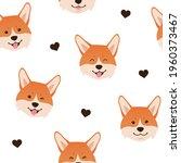 welsh corgi seamless pattern.... | Shutterstock .eps vector #1960373467