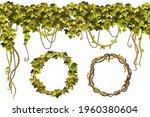 ivy frames  wreath  seamless...   Shutterstock .eps vector #1960380604