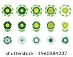 sunflower logo. design concept...   Shutterstock .eps vector #1960384237