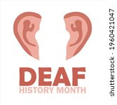 national deaf history month ... | Shutterstock .eps vector #1960421047