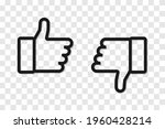 like. thumb up and down. thumb... | Shutterstock .eps vector #1960428214