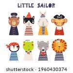 cute little animals in sailor ...   Shutterstock .eps vector #1960430374