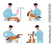 vector set of man veterinarian...   Shutterstock .eps vector #1960431334