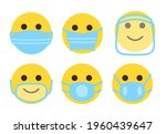 set of face emoji in medical...   Shutterstock .eps vector #1960439647