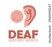 national deaf history month ... | Shutterstock .eps vector #1960440247
