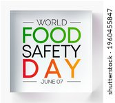 world food safety day  wfsd ... | Shutterstock .eps vector #1960455847