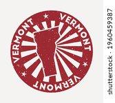 vermont stamp. travel red... | Shutterstock .eps vector #1960459387
