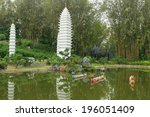 model of dali pagodas in yunnan ... | Shutterstock . vector #196051409