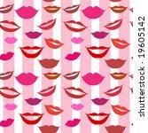 seamless background lips  smiles | Shutterstock .eps vector #19605142