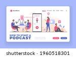 podcast advertising landing... | Shutterstock .eps vector #1960518301