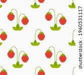 strawberry plants seamless...   Shutterstock .eps vector #1960531117