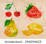 artistic,berry,brown,brushstroke,cherry,closeup,color,colorful,creative,dessert,diet,drawing,food,fresh,freshness