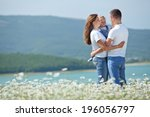 happy young family spending... | Shutterstock . vector #196056797
