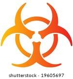 biohazard sign  warning alert... | Shutterstock .eps vector #19605697