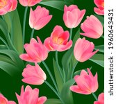 floral seamless tulip with... | Shutterstock .eps vector #1960643431
