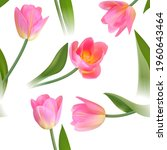 floral seamless tulip with... | Shutterstock .eps vector #1960643464