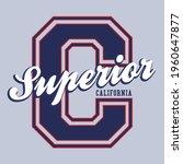 vintage college varsity font...   Shutterstock .eps vector #1960647877