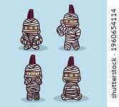 set of cute punk hadcore mummy... | Shutterstock .eps vector #1960654114