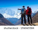 Group Of Hikers In The...