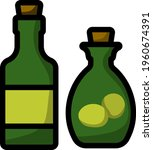 bottle of olive oil icon....