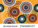 ethnic abstract fabric.... | Shutterstock .eps vector #1960680157