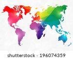 polygon style world map
