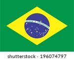 flag of brazil  | Shutterstock .eps vector #196074797