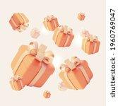 realistic detailed 3d gift... | Shutterstock .eps vector #1960769047