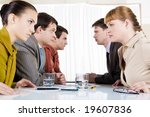 image of business conflict... | Shutterstock . vector #19607836