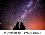 a beautiful milkyway on a night ...   Shutterstock . vector #1960810024